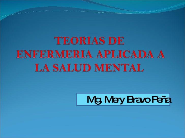 Mg. Mery Bravo Peña