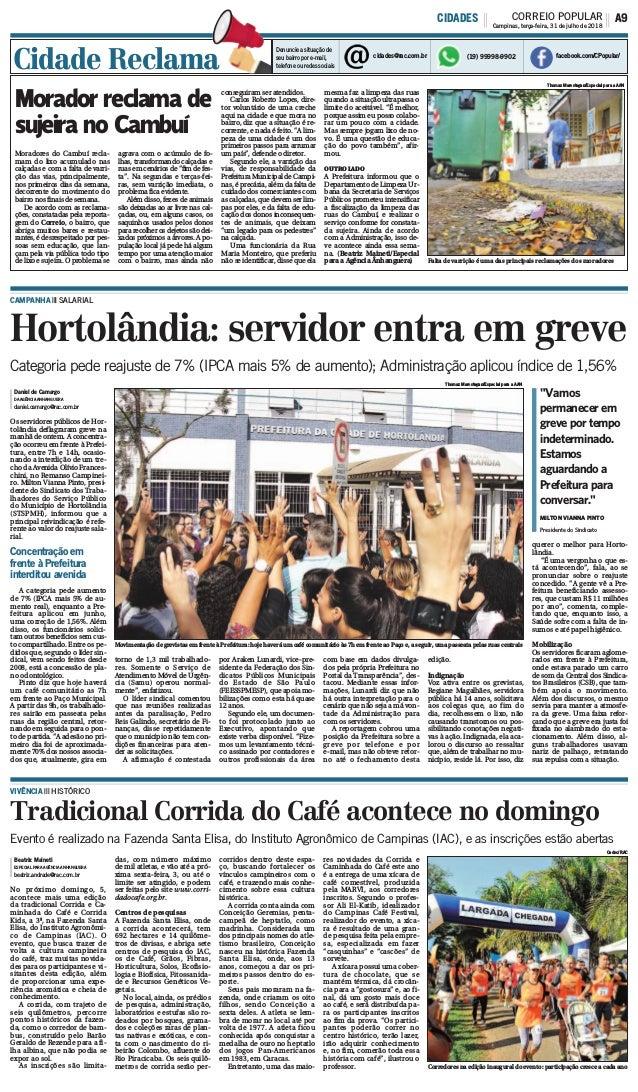 """""""Vamos permanecer em greve por tempo indeterminado. Estamos aguardando a Prefeitura para conversar."""" Hortolândia: servidor..."""