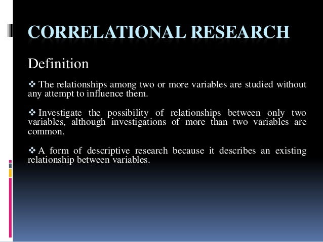 correlational research types of correlational research Looking for online definition of correlational research in the medical dictionary correlational research explanation free what is correlational research meaning of correlational research.