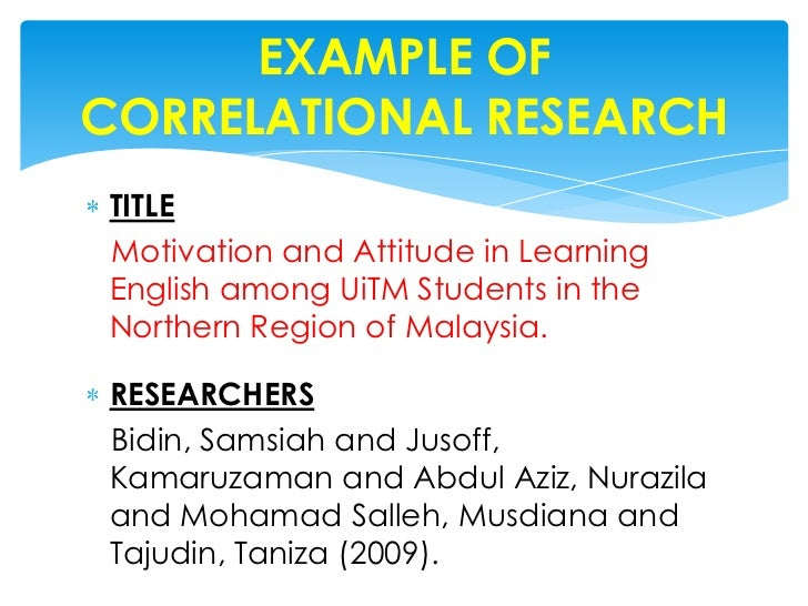 experimental and correlational research methods Learning objectives explain what quasi-experimental research is and distinguish it clearly from both experimental and correlational research describe three.