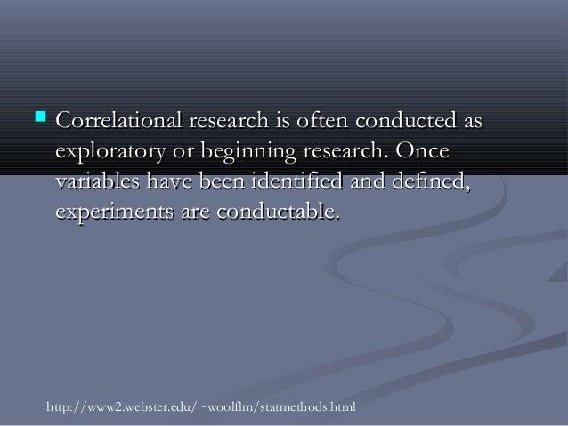 Correlation research design
