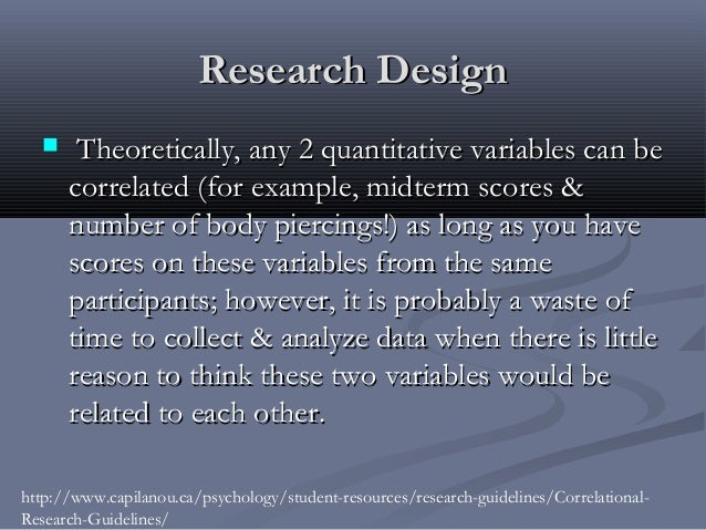 correlation in research Strictly speaking correlation is not a research method but a way of analysing data gathered by other means this might be useful, for example.