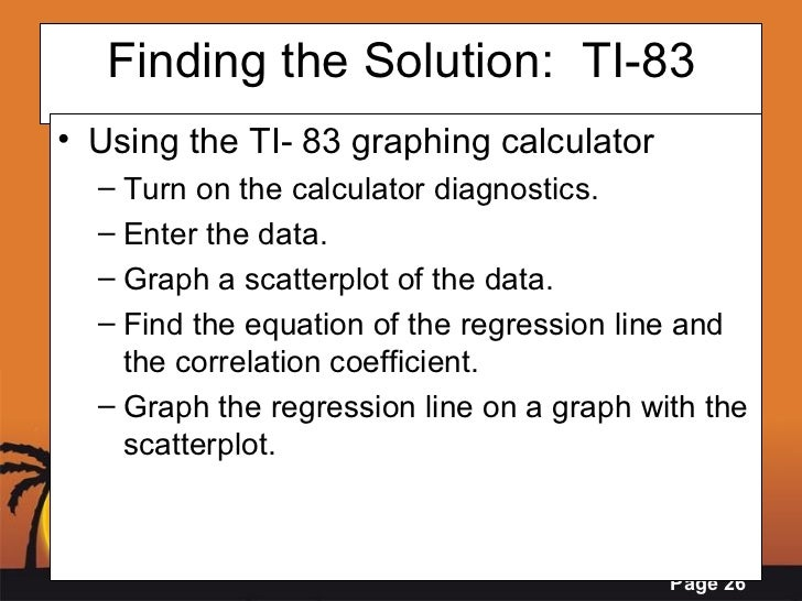how to find correlation coefficient using graphing calculator ti83