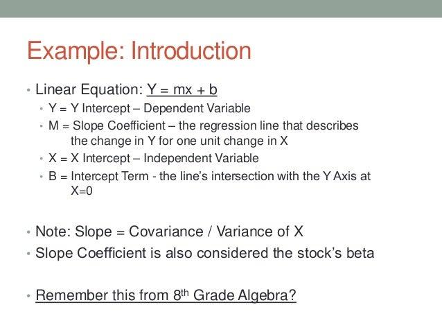 Correlation and regres...Y Mx- B Example