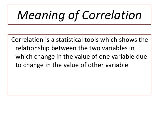 Correlation by ramesh kumar