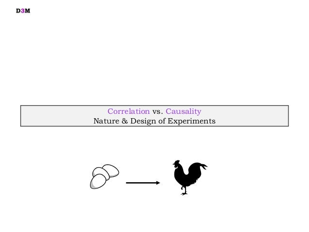 Correlation vs. Causality Nature & Design of Experiments D3M