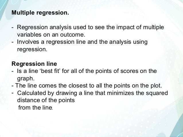 how to visually show multiple regression fingdings