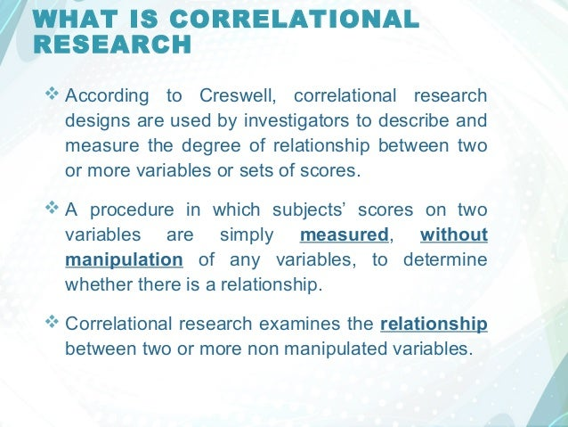 correlation research papers Define correlation and scatter plot, and understand how scatter plots are used to show correlation explain how to interpret the sign and number of a correlation coefficient compare and contrast.