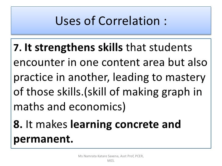 correlation notes Correlation is another way of assessing the relationship between variables   known as pearson's correlation coefficient, to express the strength of the.
