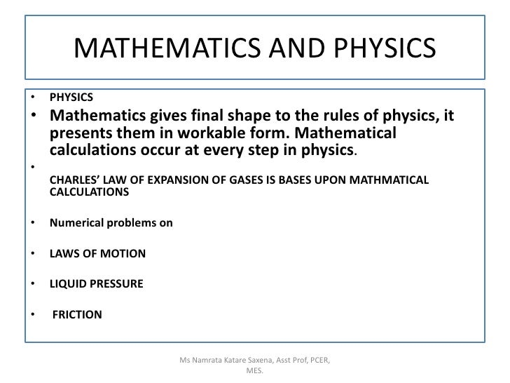 uses of mathematics in other subjects