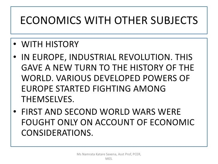 relationship of history with other subjects