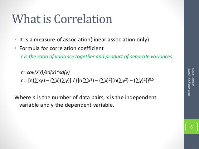 how to find the correlation coefficient formula