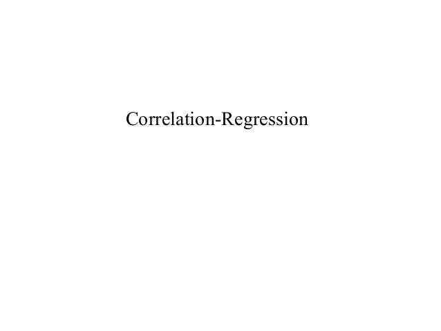 Correlation-Regression