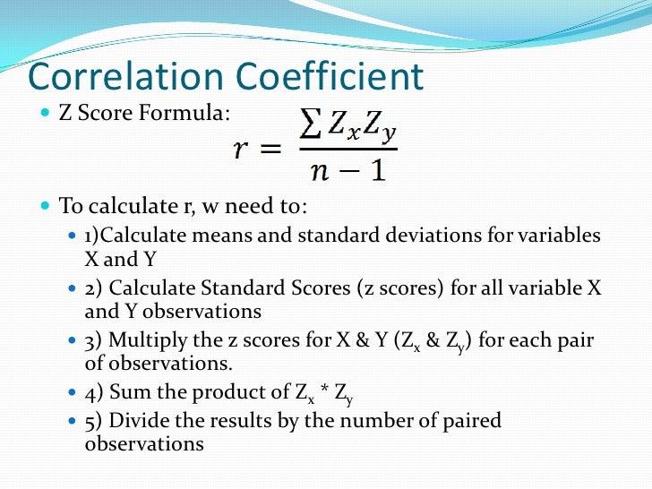 Correlation & Regression