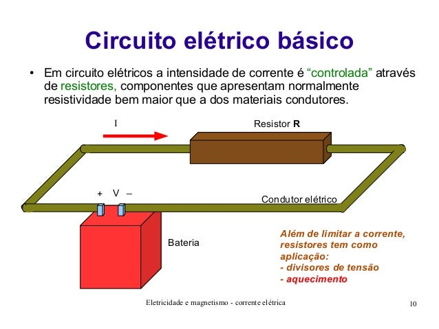 Circuito Eletrico : Corrente eletrica