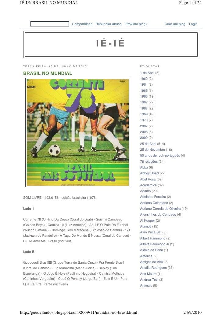 IÉ-IÉ: BRASIL NO MUNDIAL                                                                                    Page 1 of 24  ...