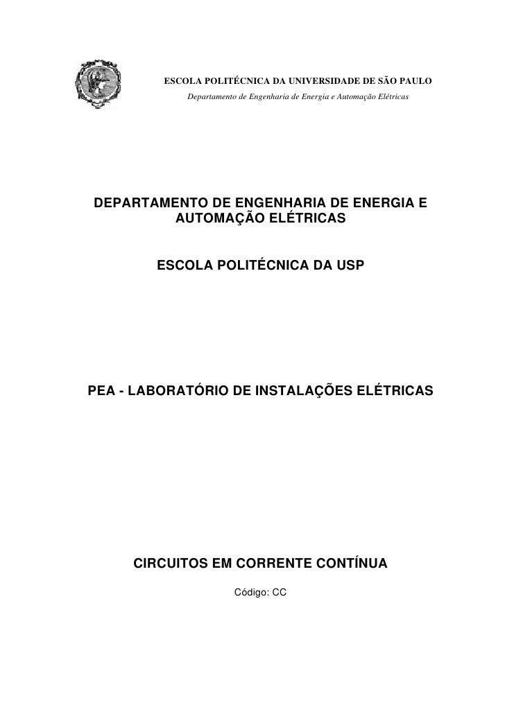 ESCOLA POLITÉCNICA DA UNIVERSIDADE DE SÃO PAULO             Departamento de Engenharia de Energia e Automação ElétricasDEP...