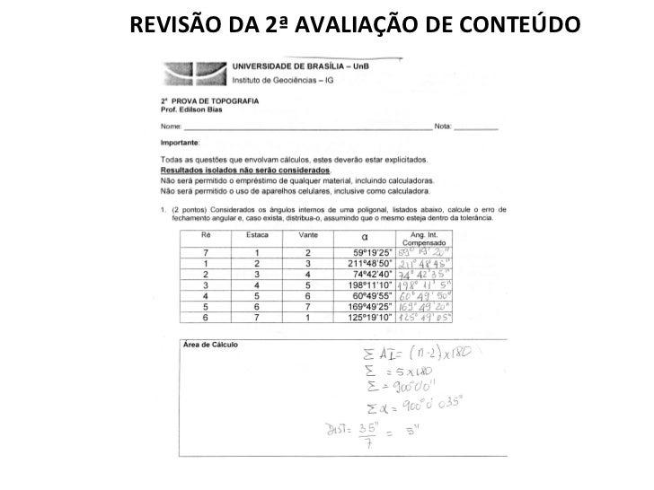 REVISÃO DA 2ª AVALIAÇÃO DE CONTEÚDO