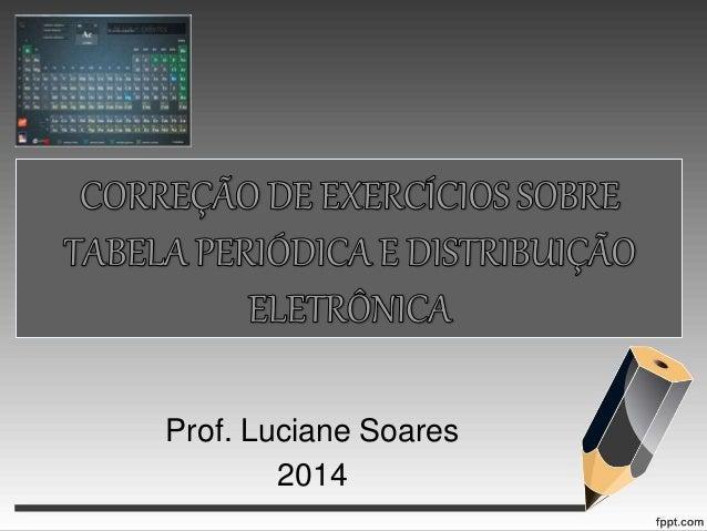 Prof. Luciane Soares 2014