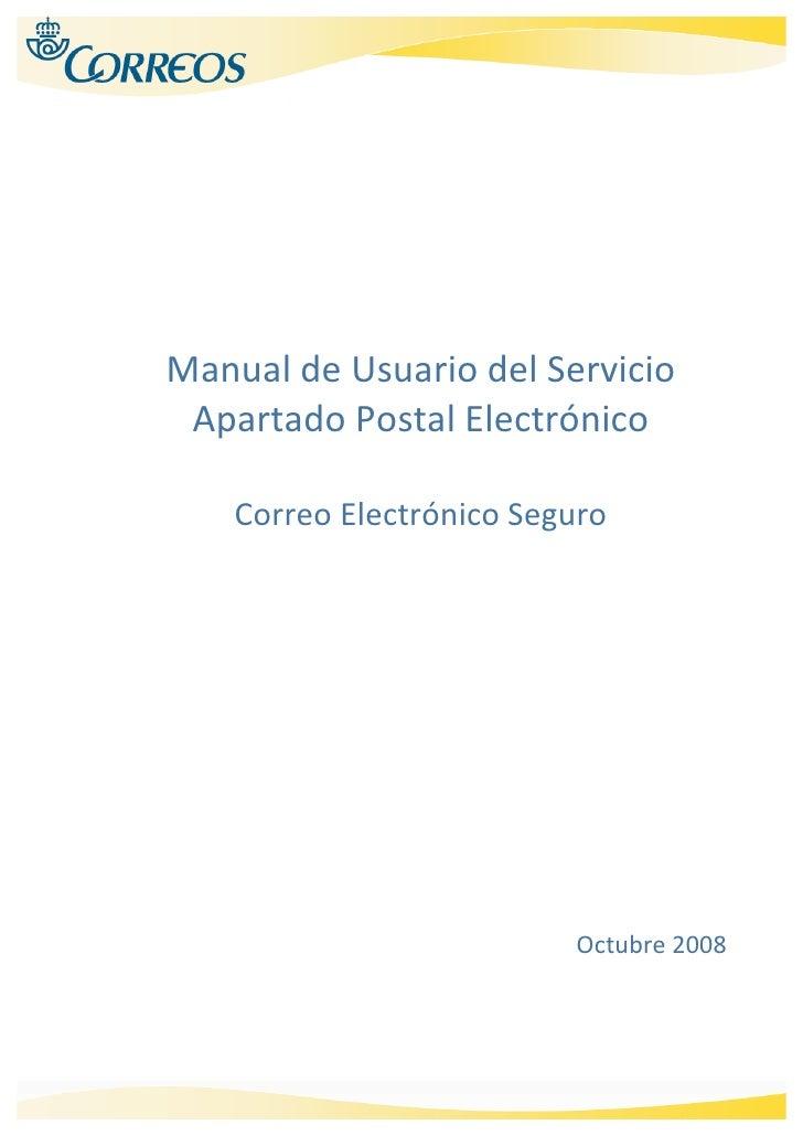 ManualdeUsuariodelServicio     ApartadoPostalElectrónico       ...