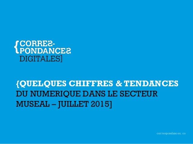 correspondances.co {QUELQUES CHIFFRES & TENDANCES DU NUMERIQUE DANS LE SECTEUR MUSEAL – JUILLET 2015]