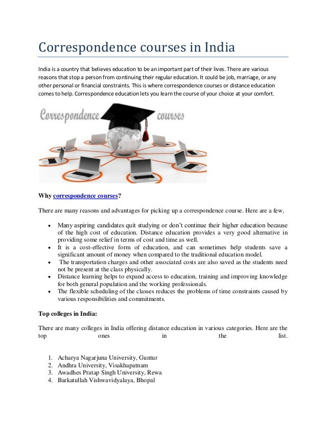 Correspondence courses in India- Way2College