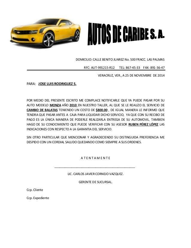 DOMICILIO: CALLE BENITO JUAREZ No. 500 FRACC. LAS PALMAS RFC: AUT-991215-R12 TEL: 867-45-33 FAX: 891-36-47 VERACRUZ, VER.,...