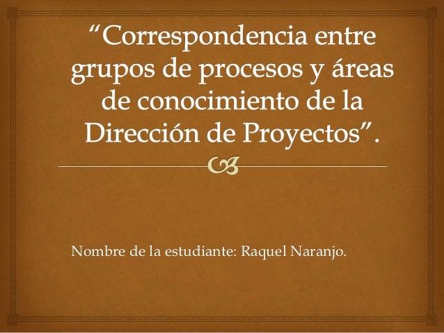 Nombre de la estudiante: Raquel Naranjo.