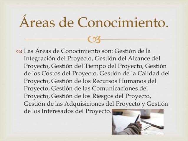 Correspondencia entre grupos de procesos y áreas de conocimiento de la dirección de proyectos. Slide 3