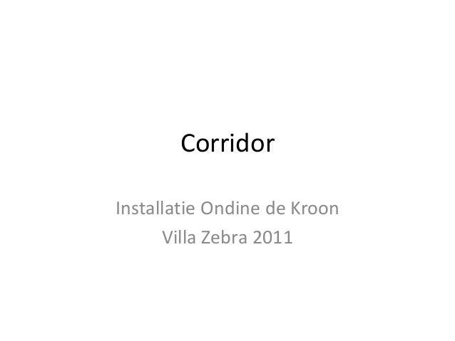 Corridor Installatie Ondine de Kroon Villa Zebra 2011