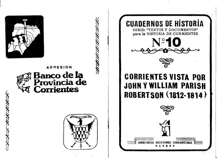 Corrientes Vista Por John Y William Parish Robertson