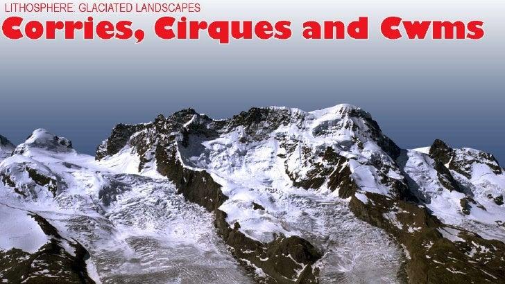 Corries cirques & cwms