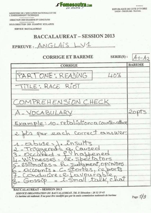 Corrigé anglais bac_a1-a2_2013