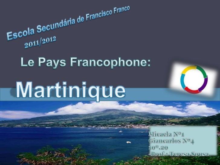 La Martinique est une île à la fois région doutre-mer et département doutre-mer français. Elle doit son nom à Christophe C...