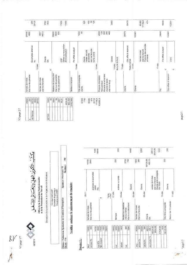 Corrigé indicatif examen passage 2009 v3
