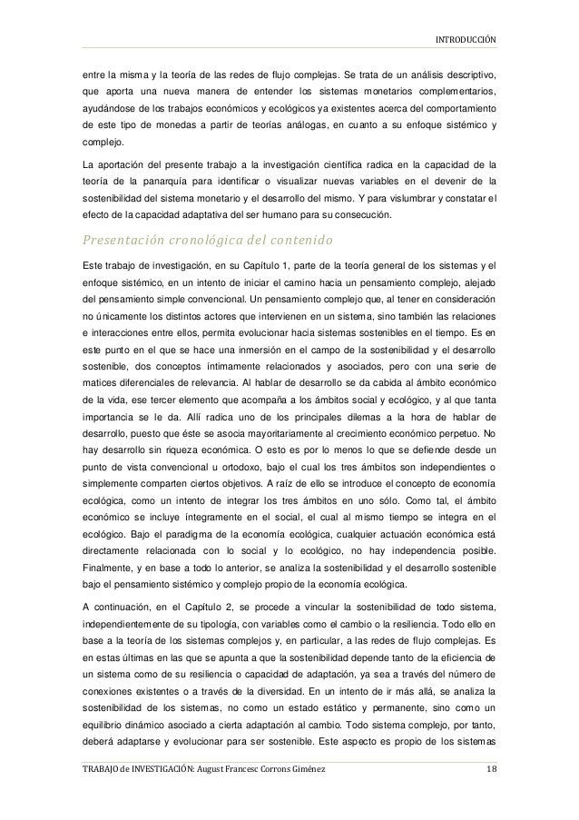 INTRODUCCIÓN TRABAJO de INVESTIGACIÓN: August Francesc Corrons Giménez 18 entre la misma y la teoría de las redes de flujo...