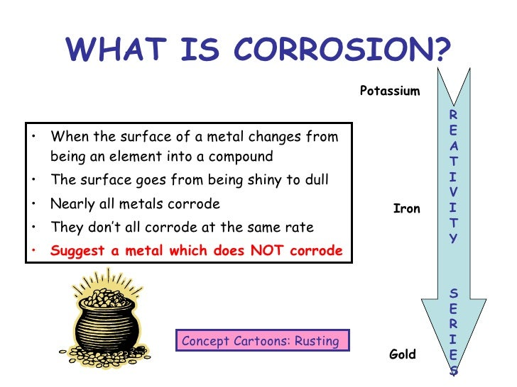 methods of prevention of rusting chem Index: introduction mechanism of corrosion of meta electrochemical mechanism (rusting) methods of prevention of corrosion.