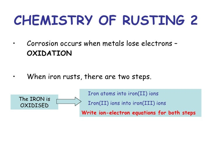 Write The Equation For The Rusting Of Iron In Which Iron Reacts With