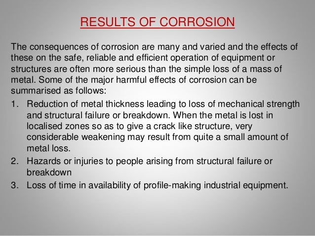 Corrosion in Metals  Slide 3