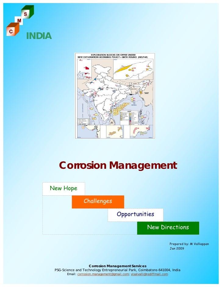 S     M  C         INDIA                       Corrosion Management              New Hope                                 ...