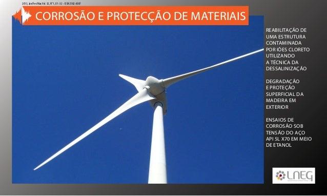 1VOLTAR AO INÍCIO Corrosão e Protecção de Materiais 2013, Jan/Fev/Mar,Vol. 32, No 1, 01 -32 - ISSN 2182-6587 REABILITAÇÃO ...