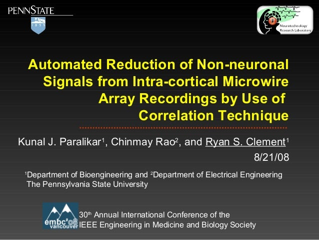 Automated Reduction of Non-neuronal Signals from Intra-cortical Microwire Array Recordings by Use of Correlation Technique...