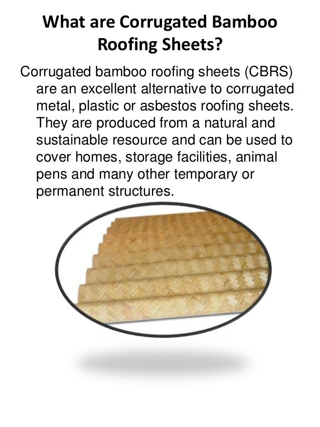 A8304013046; 2. What Are Corrugated Bamboo Roofing ...