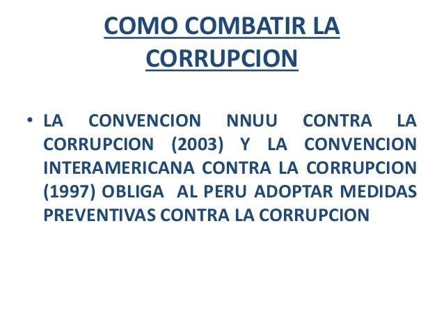 Corrupci n de funcionarios - Como combatir la carcoma ...