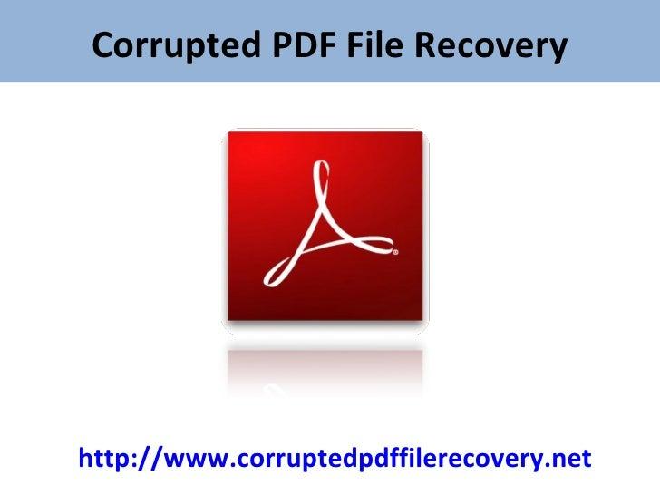 Corrupted pdf after file