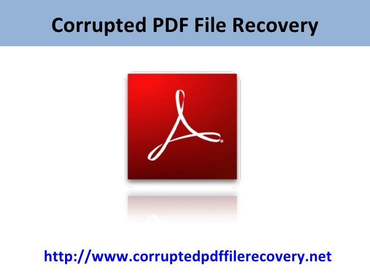 how to recover pdf file