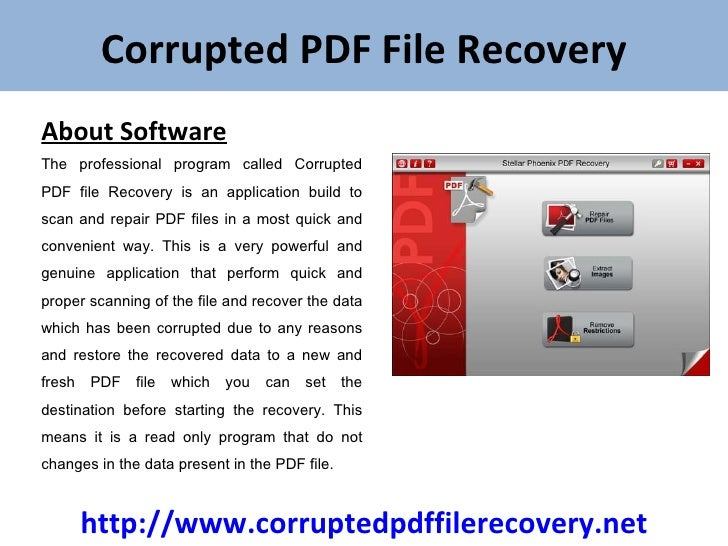 how to fix a corrupted pdf file