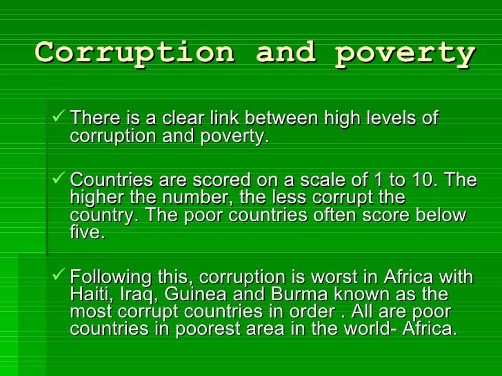 Corruption - Most poorest country in africa