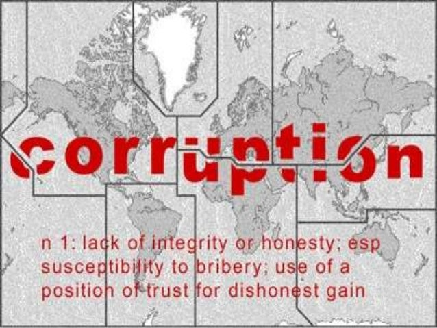 Authority                     +CORRUPTION   =    Monopoly                     -      Transparency