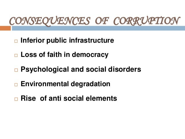 corruption causes consequences and cures Flurry of empirical research on the causes and consequences of  causes and  consequences of corruption an important  your boss suggests that if you treat  a.